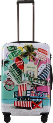 Triforce Francisco Ceron Pop Art South Beach 26 inch Hardside Spinner Luggage South Beach - Triforce Softside Checked