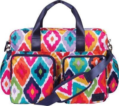 Trend Lab French Bull Ziggy Multi-Colored Chevron Deluxe Duffle Diaper Bag Kat Multi - Trend Lab Diaper Bags & Accessories