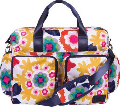 Trend Lab French Bull Ziggy Multi-Colored Chevron Deluxe Duffle Diaper Bag Sus Multi - Trend Lab Diaper Bags & Accessories