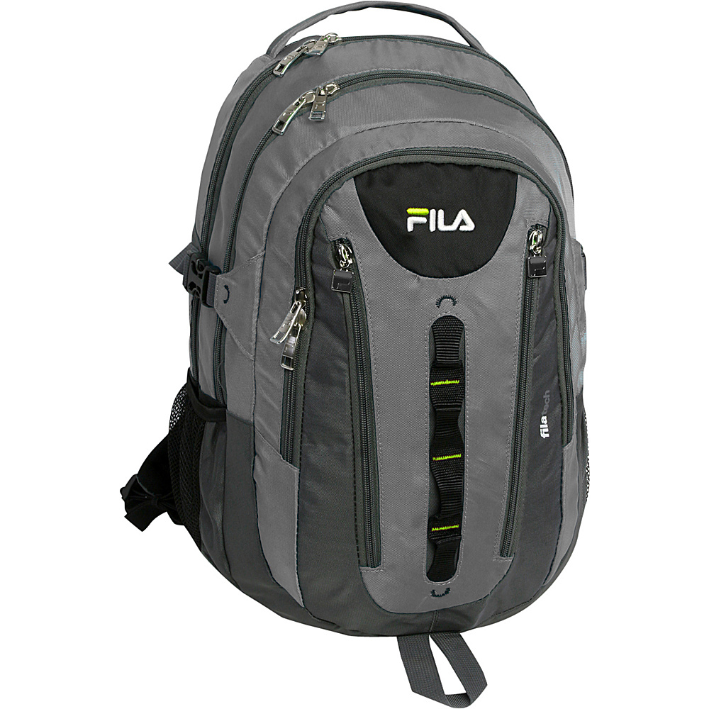 Fila Pinnacle Tablet and Laptop Backpack Grey Fila Business Laptop Backpacks