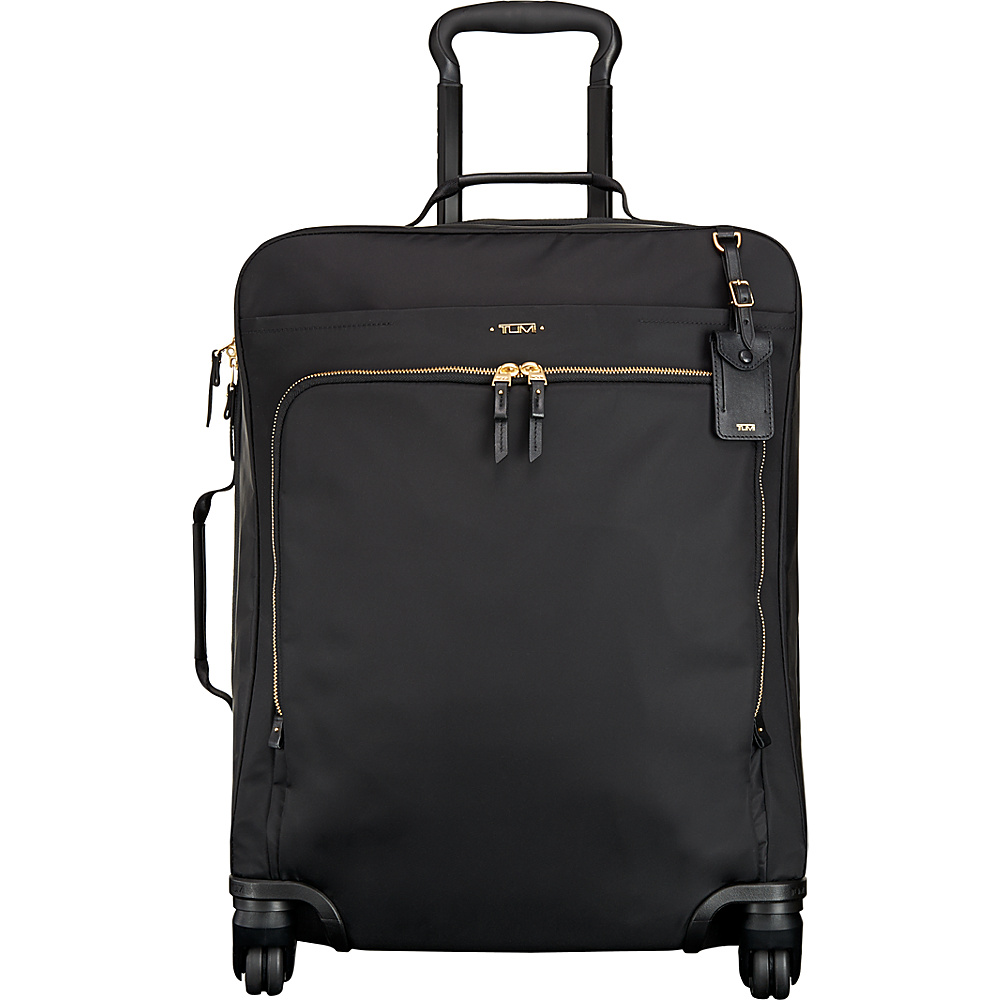 Tumi Voyageur Super Leger Continental 4 Wheel Carry On Black - Tumi Softside Carry-On