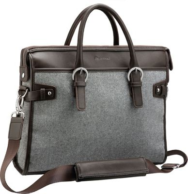 Setton Brothers 14 inch Laptop Bag Grey - Setton Brothers Non-Wheeled Business Cases