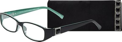 Select-A-Vision Victoria Klein Reading Glasses +1.25 - Green Square Accent - Select-A-Vision Sunglasses
