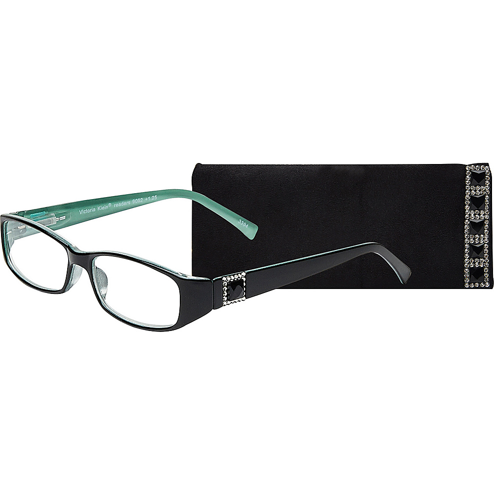 Select A Vision Victoria Klein Reading Glasses 1.25 Green Square Accent Select A Vision Sunglasses