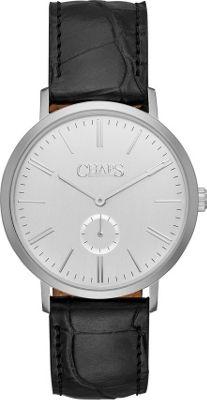 Chaps Dunham Leather Two-Hand Watch Black - Chaps Watches