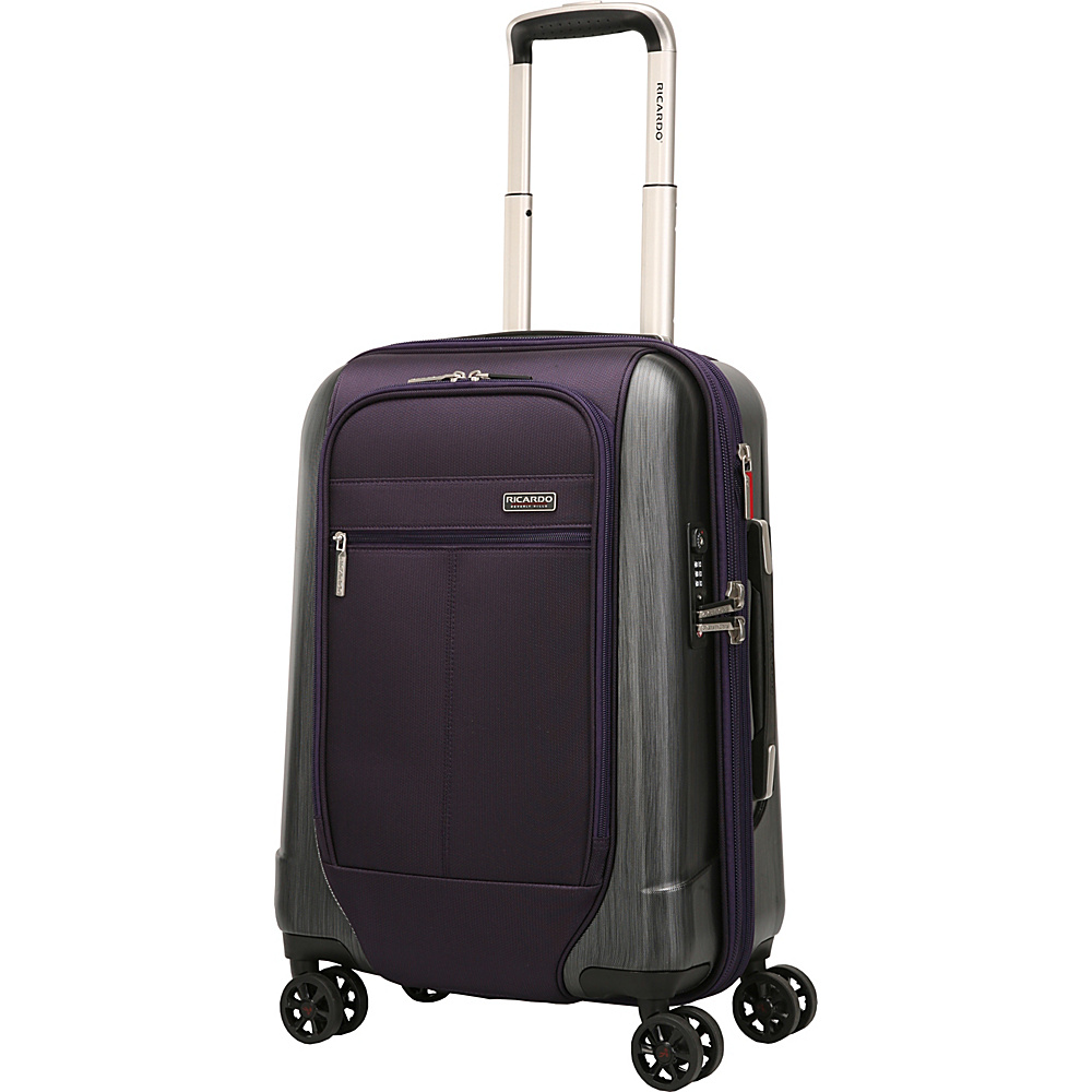 Ricardo Beverly Hills Mulholland Drive 20 Inch 4 Wheel Expandable WheelAboard Aubergine Purple Ricardo Beverly Hills Softside Carry On