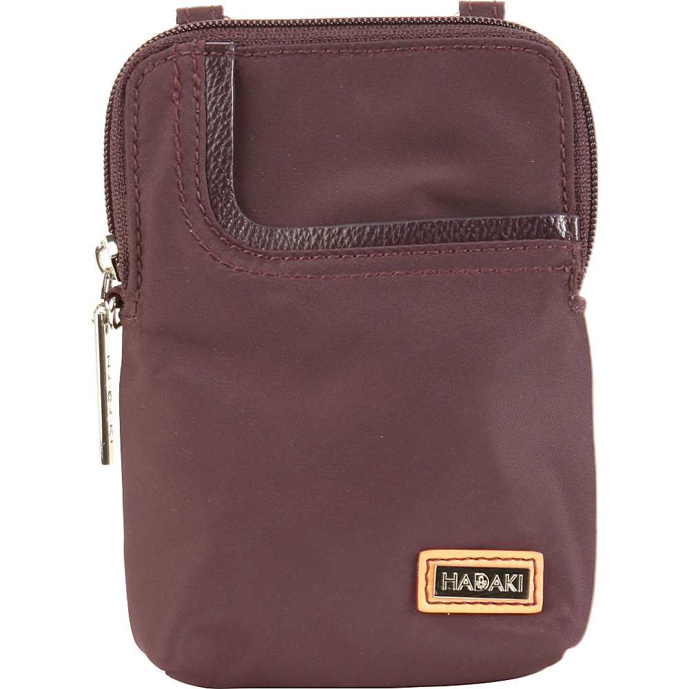 Hadaki Mobile Crossbody Plum Perfect Solid - Hadaki Fabric Handbags - Handbags, Fabric Handbags