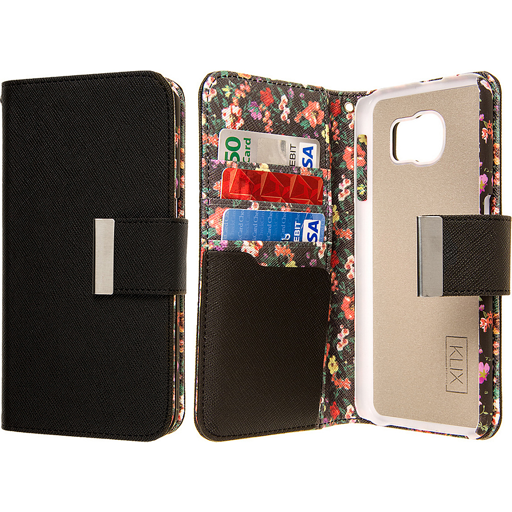 EMPIRE KLIX Klutch Designer Wallet Case for Samsung Galaxy S6 Vintage Floral EMPIRE Electronic Cases