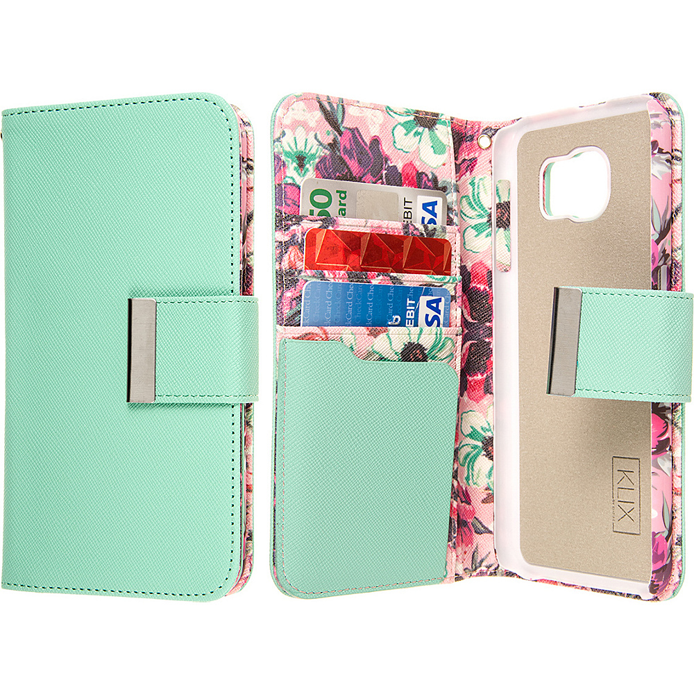 EMPIRE KLIX Klutch Designer Wallet Case for Samsung Galaxy S6 Vintage Pink Flower EMPIRE Electronic Cases