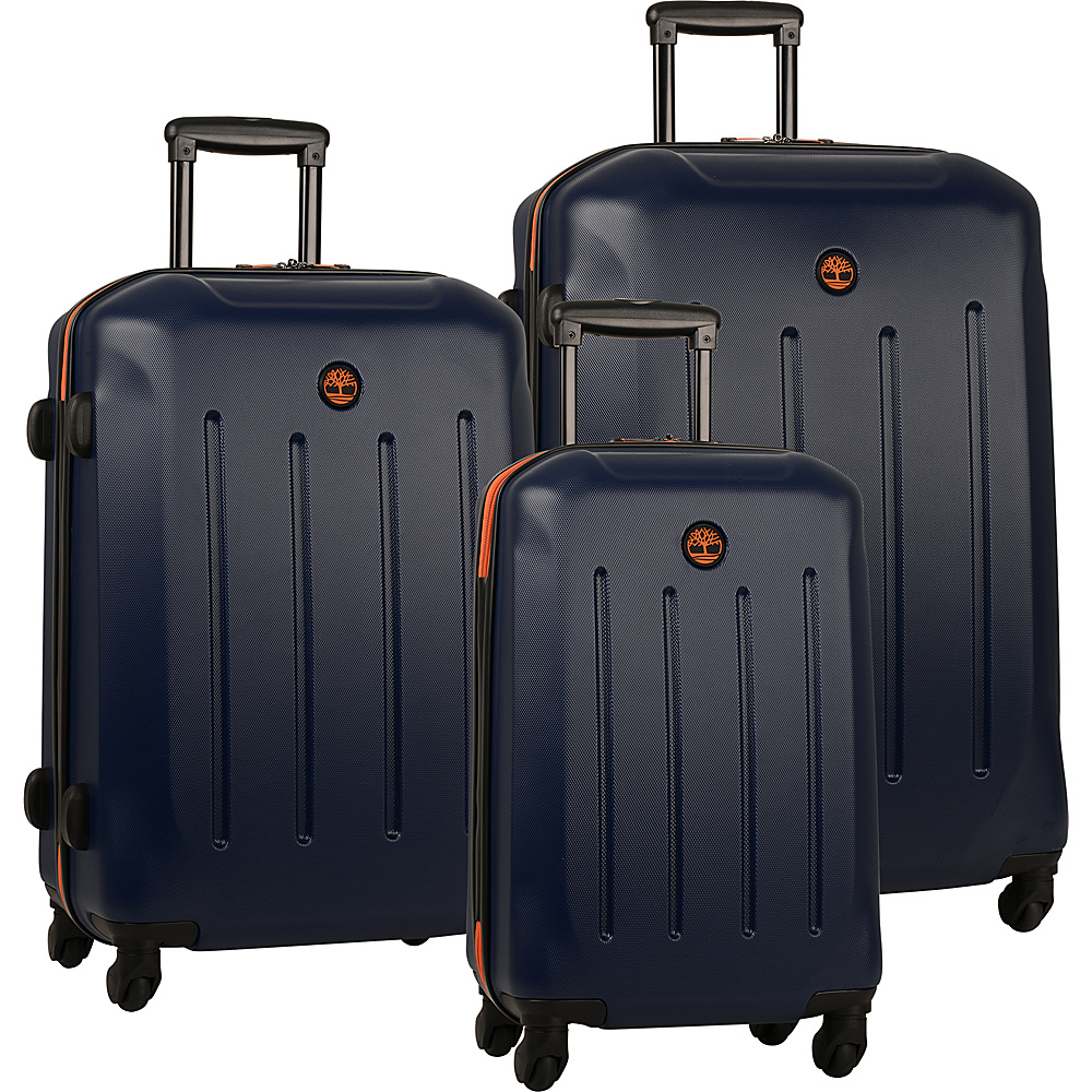 Timberland Gilmanton 3 Piece Luggage Set Blue Print Timberland Luggage Sets