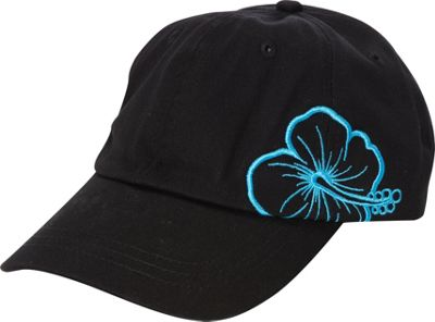 Caribbean Joe Accessories Hibiscus Cap One Size - Black - Caribbean Joe Accessories Hats/Gloves/Scarves