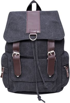 Something Strong Flapover Style Backpack With Leather Straps Tan - Something Strong Everyday Backpacks