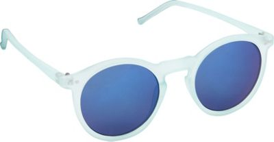 POP Fashionwear Retro Fashion Round Sunglasses Blue/Blue Mirror Lens - POP Fashionwear Sunglasses