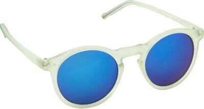 POP Fashionwear Retro Fashion Round Sunglasses Green/Blue Mirror Lens - POP Fashionwear Sunglasses