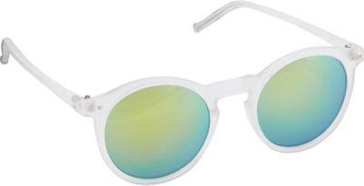 POP Fashionwear POP Fashionwear Retro Fashion Round Sunglasses Grey/Yellow Mirror Lens - POP Fashionwear Sunglasses