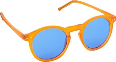 POP Fashionwear Retro Fashion Round Sunglasses Orange/Blue Lens - POP Fashionwear Sunglasses
