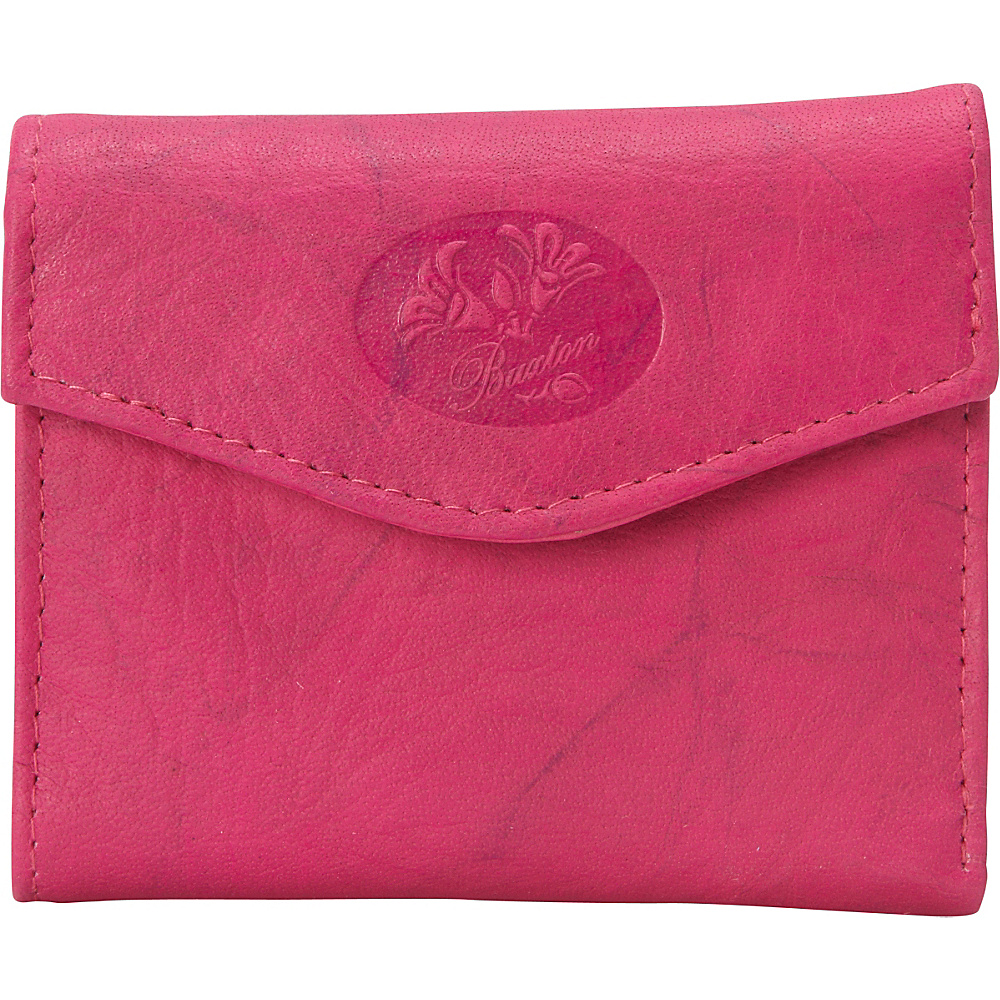 Buxton Heiress Pik-Me-Up Mini-Trifold Fuchsia Pink - Buxton Womens Wallets - Women's SLG, Women's Wallets