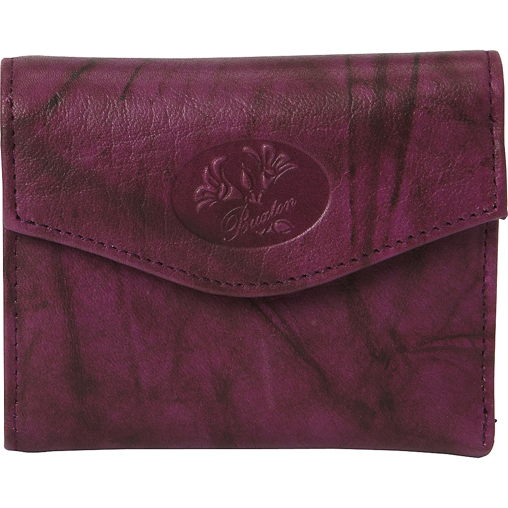 Buxton Heiress Pik-Me-Up Mini-Trifold Magenta Purple - Buxton Womens Wallets - Women's SLG, Women's Wallets