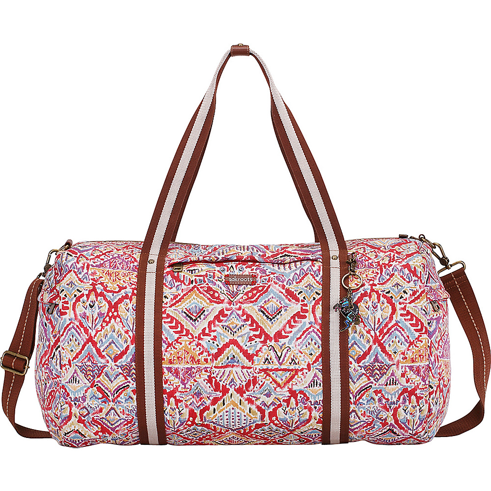 Sakroots Artist Circle XL Soft Duffle Sweet Red Brave Beauti - Sakroots Travel Duffels - Duffels, Travel Duffels