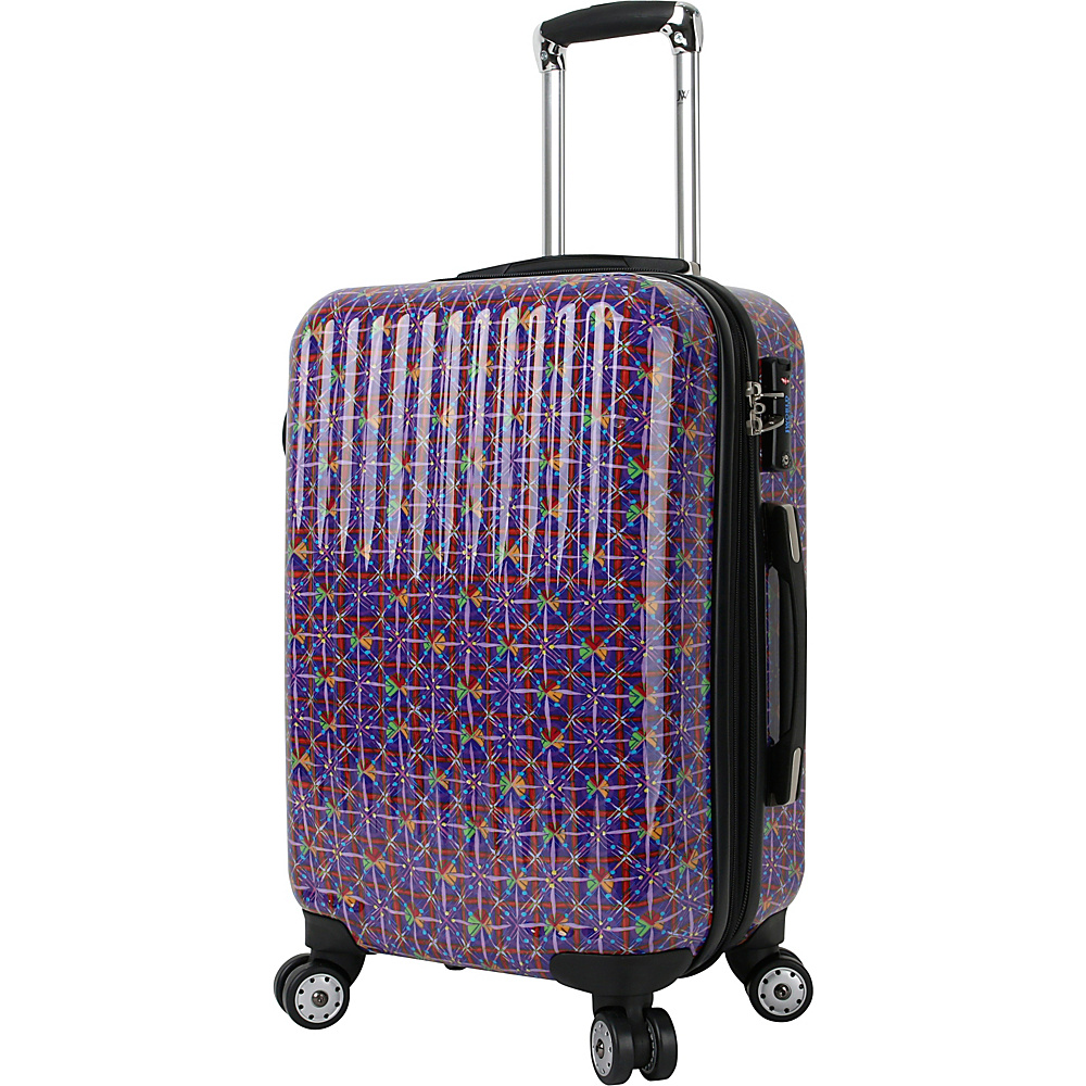 J World New York Titan 20 inch Polycarbonate Carry-on Art Luggage Squares - J World New York Hardside Carry-On - Luggage, Hardside Carry-On