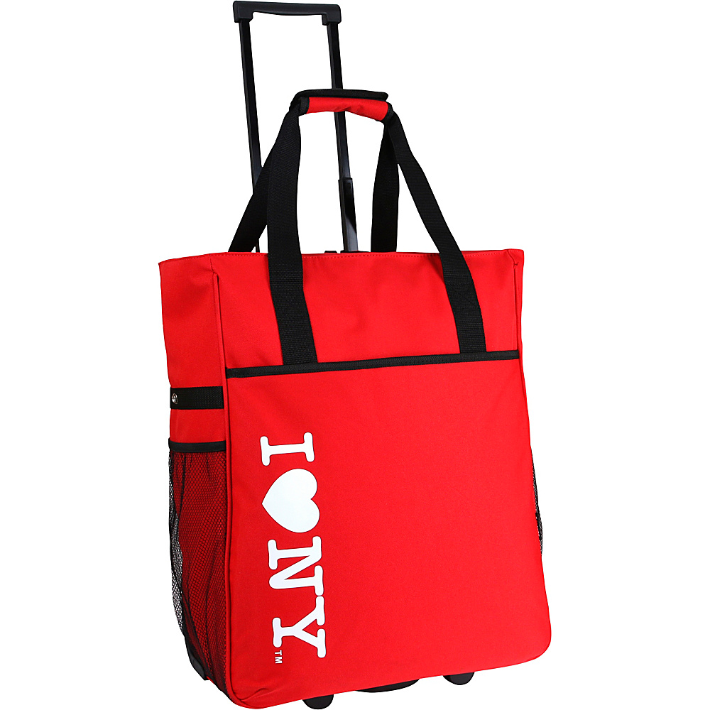 J World New York ILNY Rolling Tote Red - J World New York Luggage Totes and Satchels - Luggage, Luggage Totes and Satchels