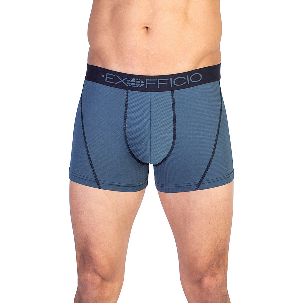 ExOfficio Give-N-Go Sport Mesh 3 Boxer Brief 2XL - Phantom - ExOfficio Mens Apparel - Apparel & Footwear, Men's Apparel
