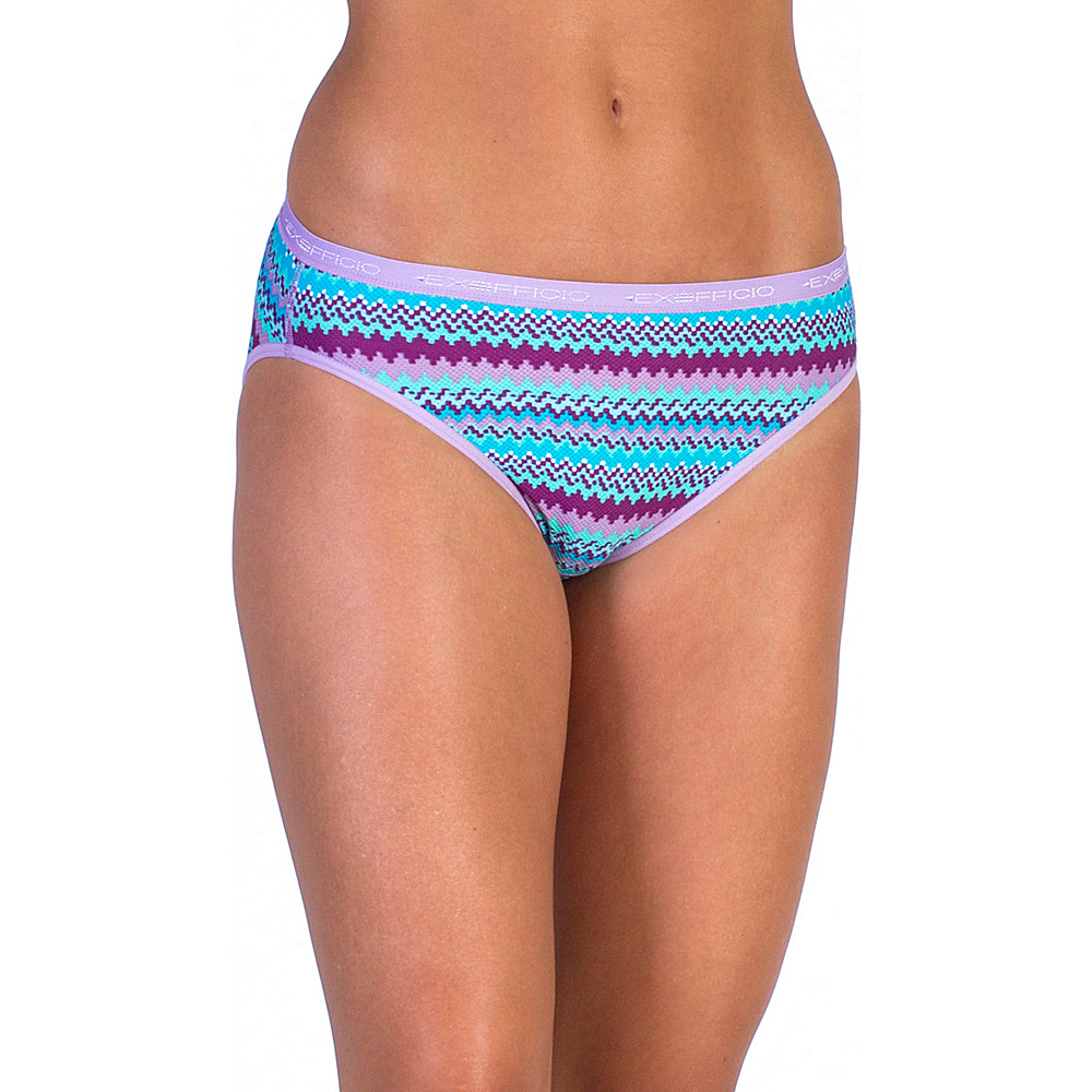 ExOfficio Give-N-Go Printed Bikini Brief XS - Deep Sea Stripe - ExOfficio Mens Apparel - Apparel & Footwear, Men's Apparel