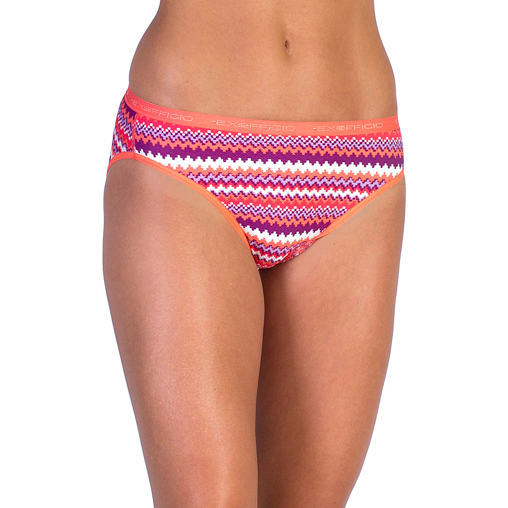ExOfficio Give-N-Go Printed Bikini Brief M - Sriracha Stripe - ExOfficio Mens Apparel - Apparel & Footwear, Men's Apparel
