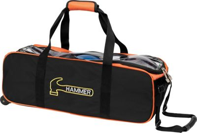 Hammer Triple Tote Black/Orange - Hammer Bowling Bags