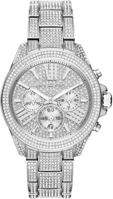 Michael Kors Watches Wren Stainless Steel Chrono Watch Si...