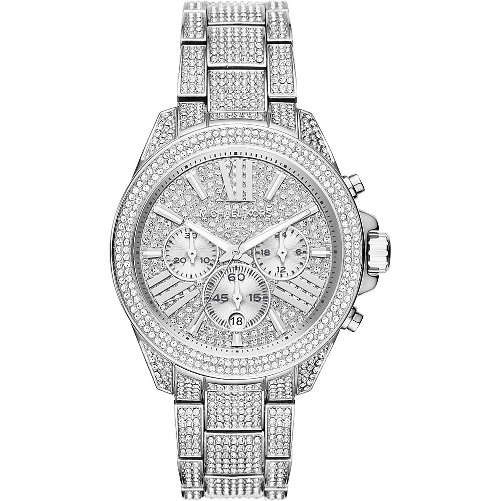 Michael Kors Watches Wren Stainless Steel Chrono Watch Silver Michael Kors Watches Watches