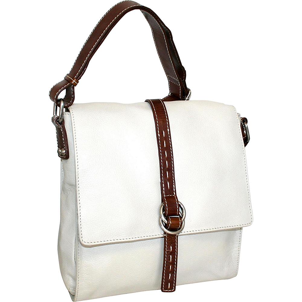 Nino Bossi Lovely Rita Crossbody Bone Nino Bossi Leather Handbags
