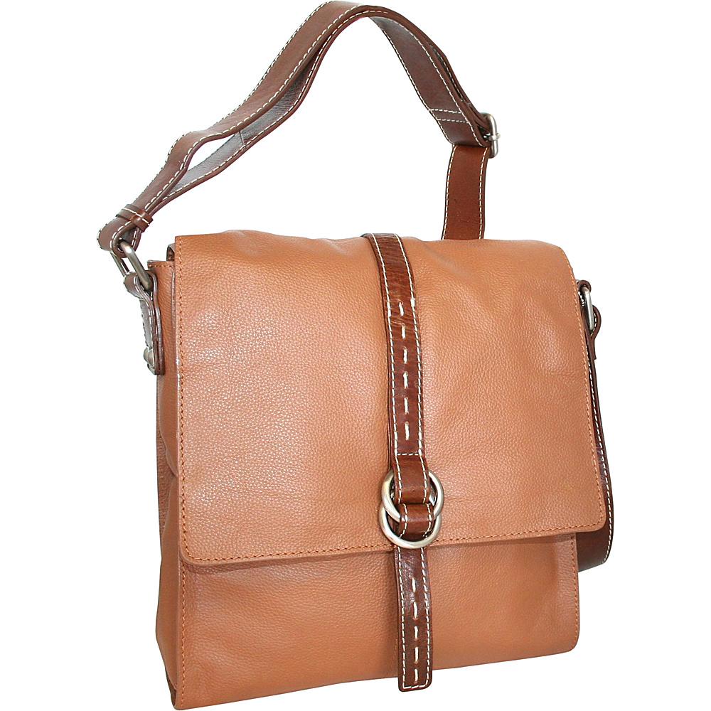 Nino Bossi Lovely Rita Crossbody Cognac Nino Bossi Leather Handbags