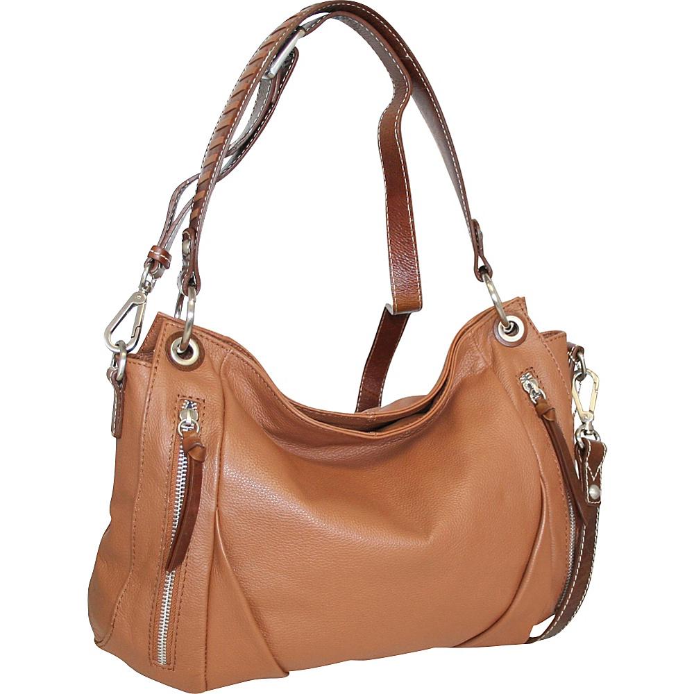 Nino Bossi Lady Madonna Hobo Cognac - Nino Bossi Leather Handbags