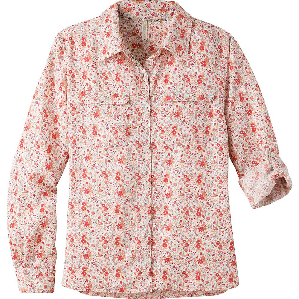 Mountain Khakis Equatorial Long Sleeve Shirt S - Hibiscus - Mountain Khakis Womens Apparel - Apparel & Footwear, Women's Apparel