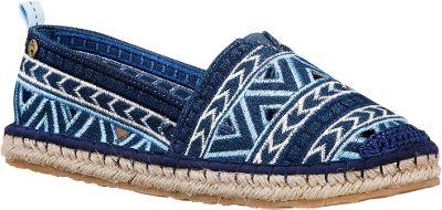 Image of The Sak Ella Essence Espadrille Flat 6 - M (Regular/Medium) - Blue Denim Embroidery - The Sak Women's Footwear