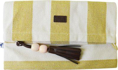 Sloane Ranger Foldover Clutch Varsity Gold - Sloane Ranger Fabric Handbags