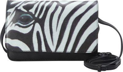 Icon Shoes Crossbody Wallet Bag Zebra Stripes - Icon Shoes Leather Handbags