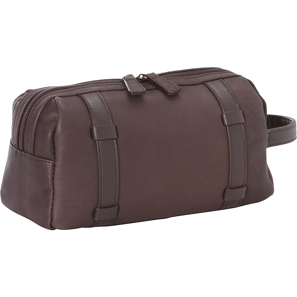 Goodhope Bags Oxford Leather Toiletry Case Brown Goodhope Bags Toiletry Kits