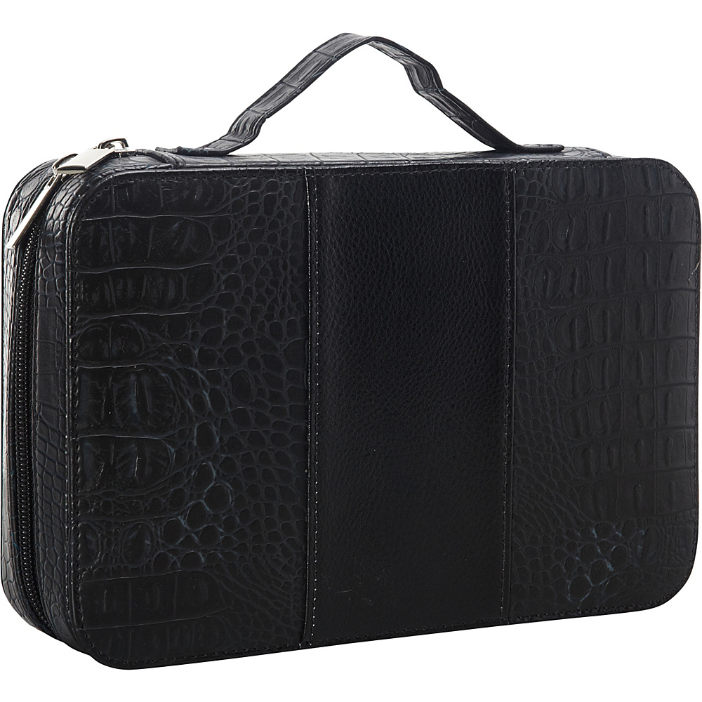 Goodhope Bags Deluxe Croc Leather Cosmetic Case Black Goodhope Bags Women s SLG Other