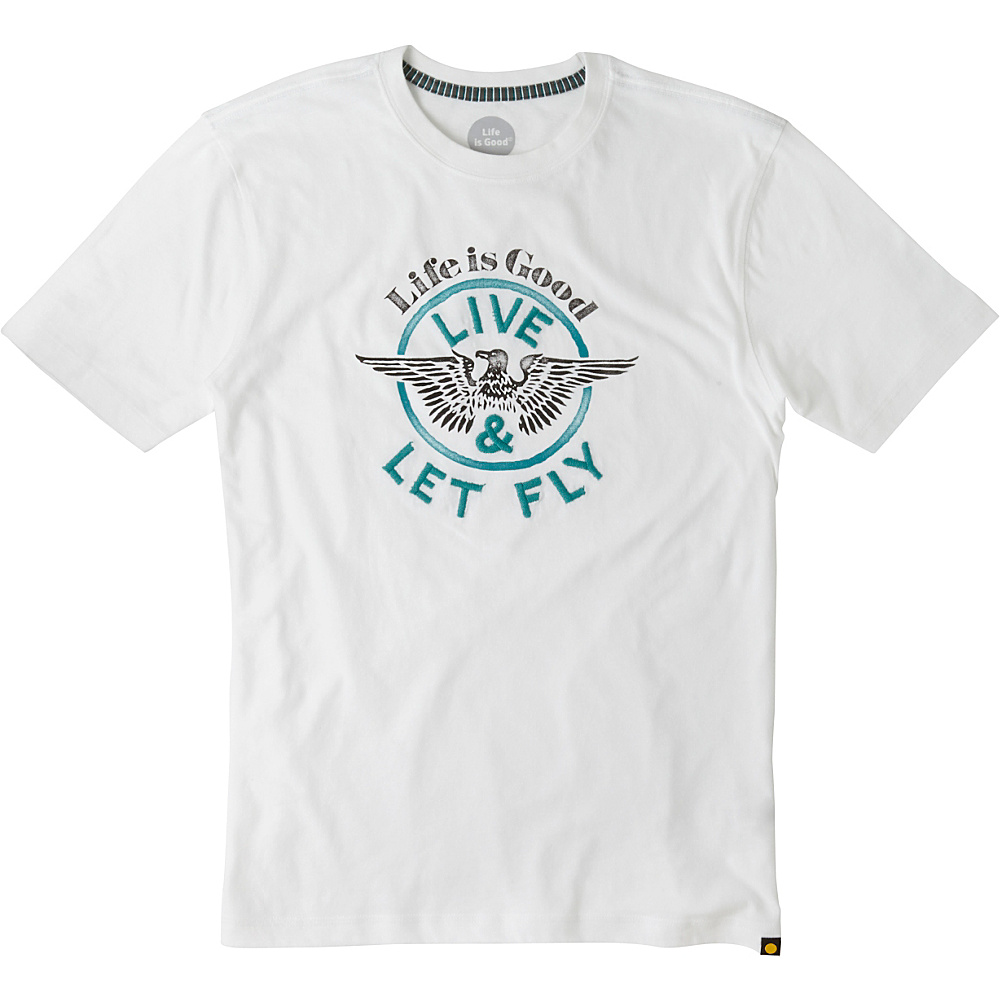 Life is good Men s Creamy Tee L Cloud White Eagle Life is good Men s Apparel