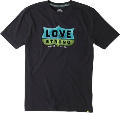 Life is good Men's Creamy Tee M - Night Black  - Love Strong - Life is good Men's Apparel