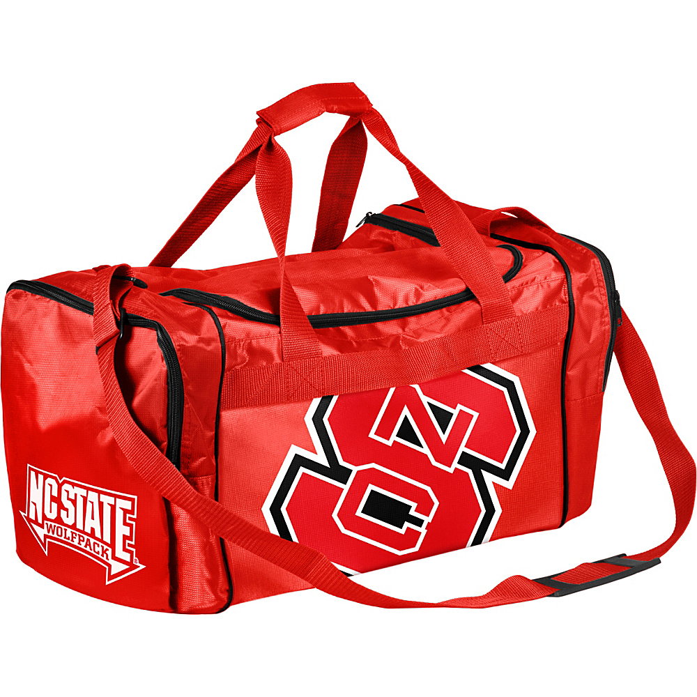 Forever Collectibles NCAA Forever Collectibles Core Duffle Bag North Carolina State Wolfpack Red Forever Collectibles Gym Duffels