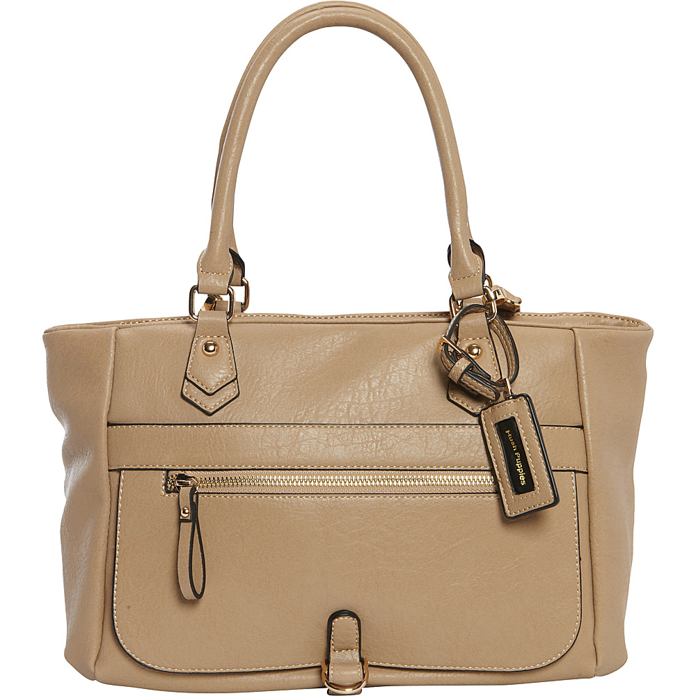 Hush Puppies Charly Satchel Taupe Hush Puppies Manmade Handbags
