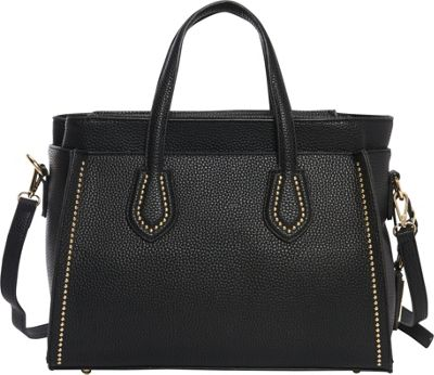 Hush Puppies Haley Satchel Black - Hush Puppies Manmade Handbags