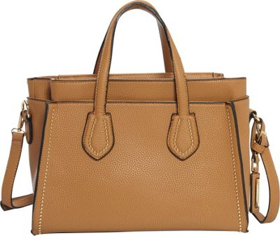 Hush Puppies Haley Satchel Taupe - Hush Puppies Manmade Handbags