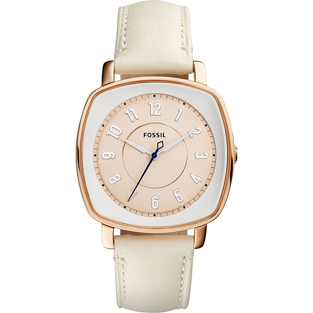 Fossil Visionist Leather Watch White - Fossil Watches - Fashion Accessories, Watches