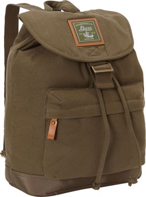 GH Bass & CO Luggage Tamarack Flap Over Backpack Khaki - GH Bass & CO Luggage Everyday Backpacks