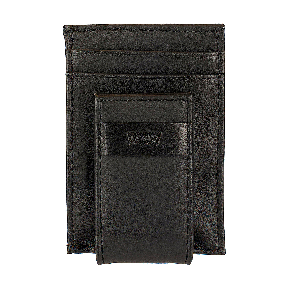 Levi s Magnetic Card Case Wallet BLACK Levi s Men s Wallets