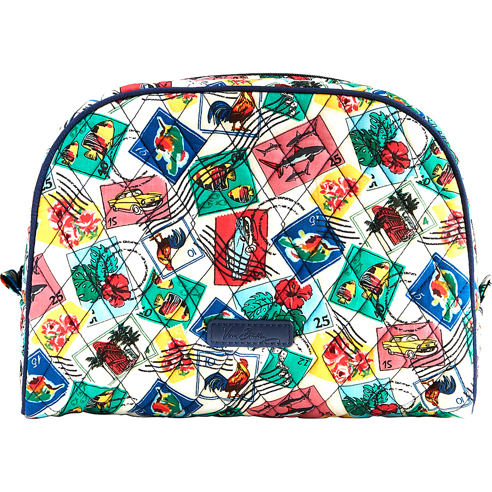 Vera Bradley Large Zip Cosmetic Cuban Stamps - Vera Bradley Womens SLG Other - Women's SLG, Women's SLG Other